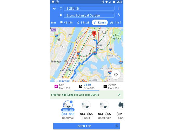 You can't book an Uber in Google Maps for Android anymore     - CNET
